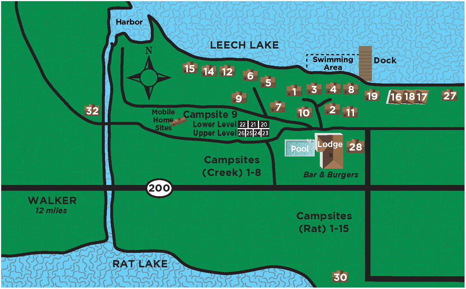 Anderson's South Shore Resort Map